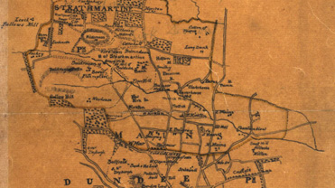 Detail from a map of Mains and Strathmartine