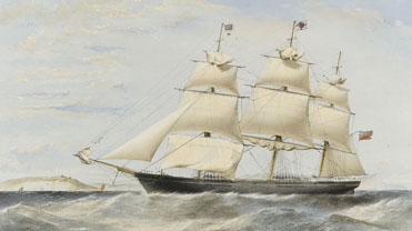 An illustration of a clipper ship