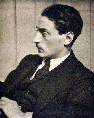 Sir Compton MacKenzie photographed in 1914