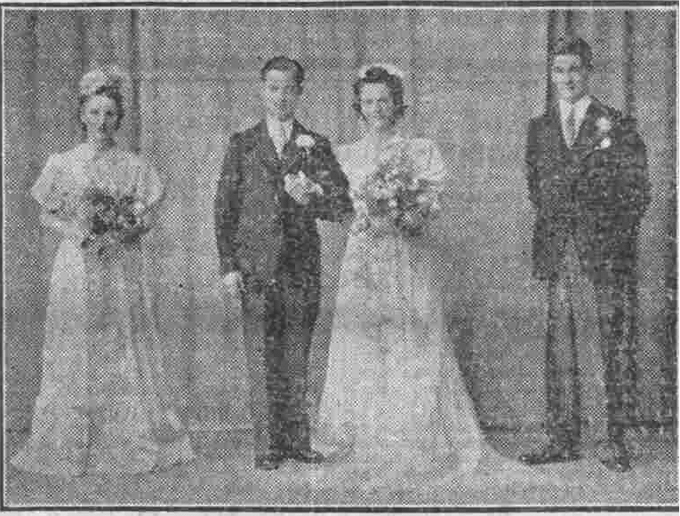 Mr Charles Rodger and Mary Duncan Jack on their wedding day.