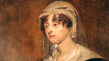 Detail of a Portrait of Carolina Oliphant, Lady Nairne, painted by John Watson Gordon