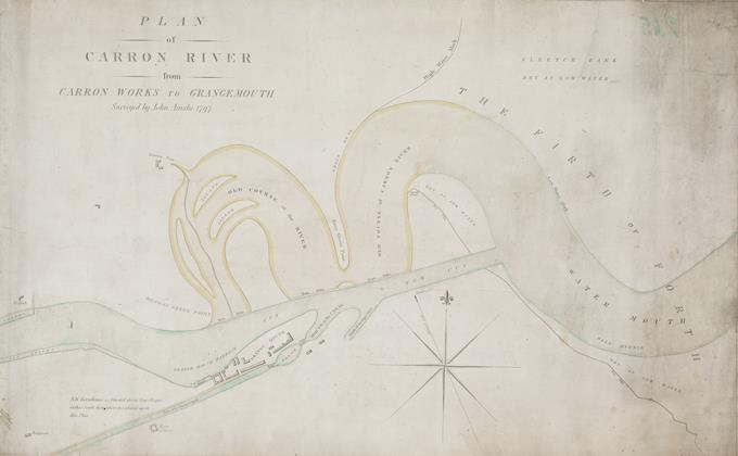 A plan of the River Carron from the Carron works to Grangemouth