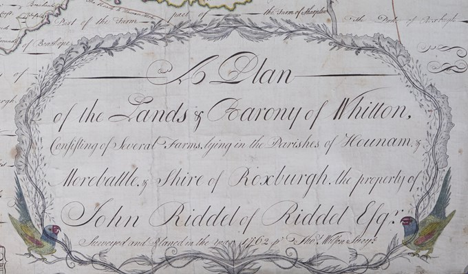 Detail from a plan of the barony of Whitton, 1762