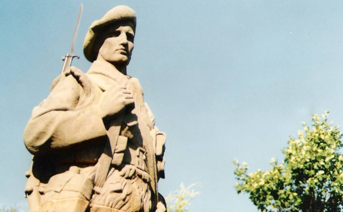 Detail of the Killin War Memorial in Perthshire. Unveiled 20 October 1920.