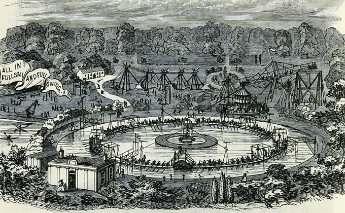 An illustration of the gymnasium from the Edinburgh Post Office Directory, 1868