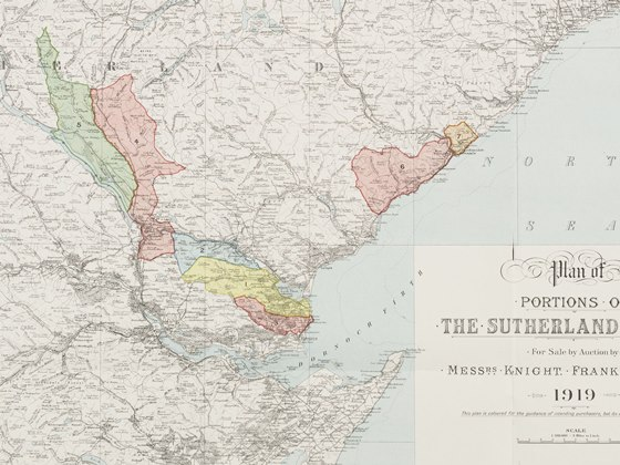 Map of 'Portions of the Sutherland Estates'