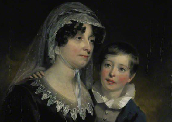 Detail from a portrait of Lady Nairne with her son William