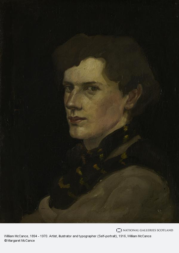 Self Portrait by William McCance, 1916.