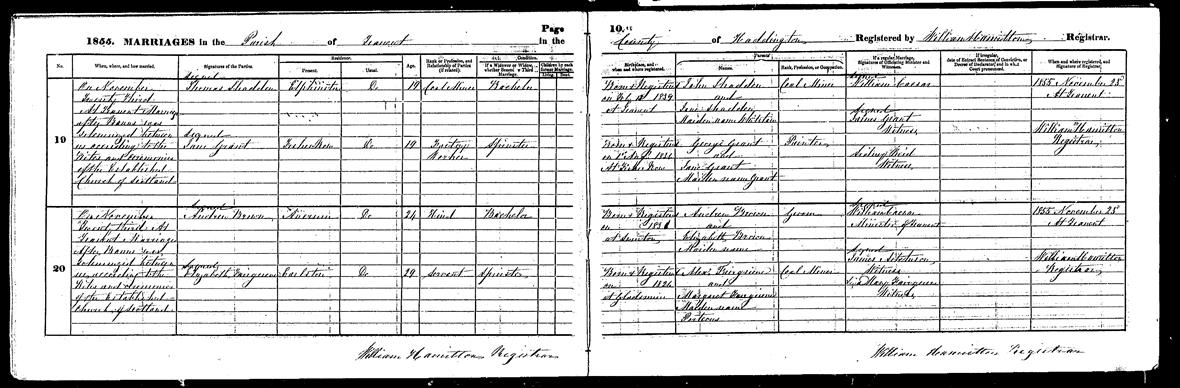 Guides scotlandspeople statutory register of marriages for tranent national records of scotland 185572219 20 yelopaper Image collections