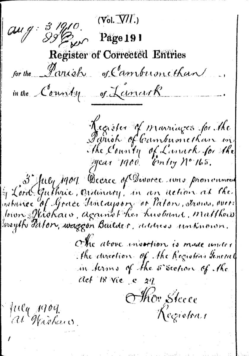 Statutory register of marriages scotlandspeople detail from rce page altavistaventures Image collections