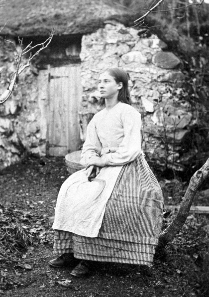 Photograph of Flora, bracken cutter in Glen Creran, 1866 (National Records of Scotland, GD1/1208/1/37)