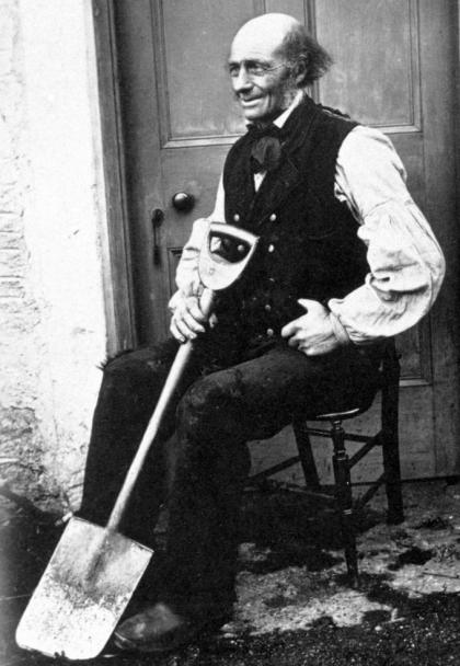 Photograph of D Rankin, road mender, Glen Creran, 1866 (National Records of Scotland, GD1/1208/1/44)
