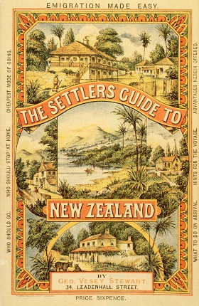 Detail from settlers guide to New Zealand
