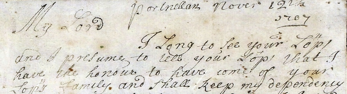Extract from Rob Roy letter