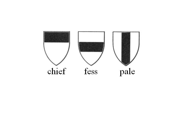 Image showing the chief, the fess and the pale.