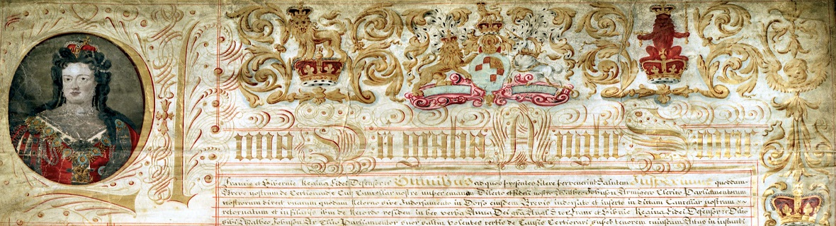 Detail from the Treaty of Union, 1707