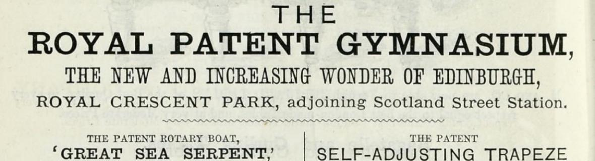 Detail from an advert for the gymnasium in the Post Office Directory, 1868
