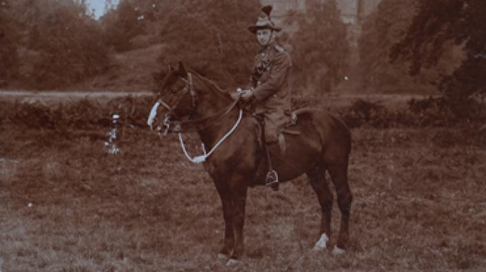 Donald Fraser on a horse