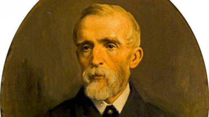 A painting of John Ritchie Findlay by George Reid (1841-1913)