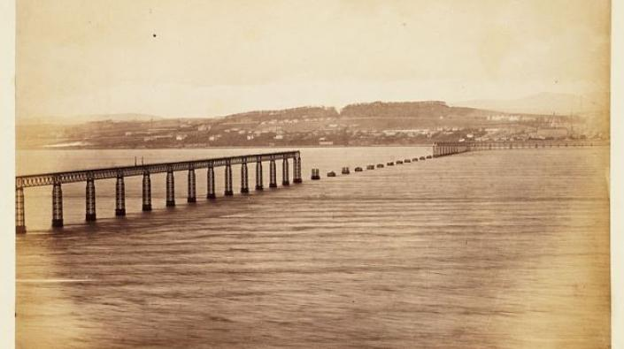 The Tay Bridge from the south after the accident