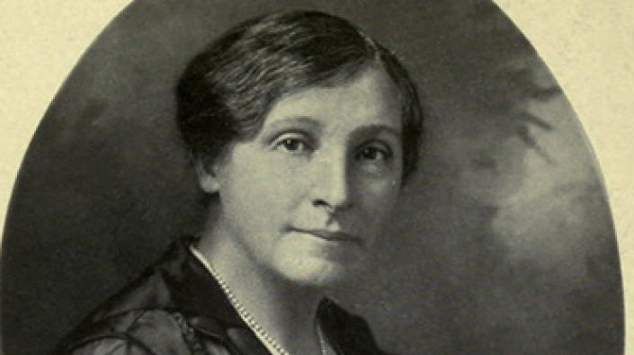 A photograph of Annie S Swan originally published in 'An Englishwoman's Home', 1918.