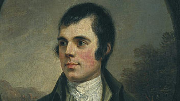 Detail of a portrait of Robert Burns by Alexander Naysmith.