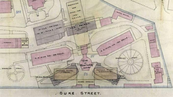 Detail from a plan of Duke Street Prison, 1880, RHP6570