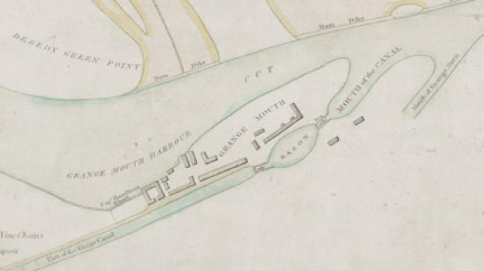 Detail from a plan of the Carron River from Carron works to Grangemouth, 1797