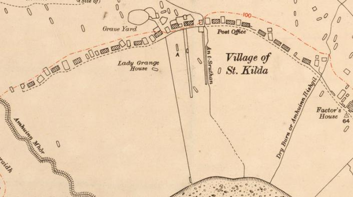 Detail of a map of St Kilda