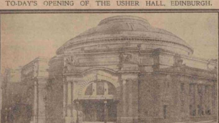 Photograph of the Usher Hall in 1914